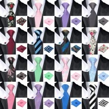 -Hot selling Vogue Men Silk Tie Set High Quality 100% Silk Necktie Handkerchief Cufflinks Set for Formal Wedding Business on JD