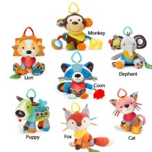 -2018 new infant Toys Baby Plush mobile toys bed lathe crib car hanging rattles babies stroller toy children's christmas gift on JD