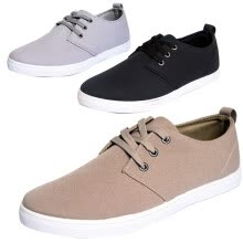 men-athletic-shoes-sneakers-Men's Canvas Fashion Shoes Gentlemen Sneakers Sports Casual lace-up Flat Leisure on JD