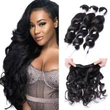 hair-bulk-Malaysian Loose Wave 3 Bundles Malaysian Virgin Hair Natural Color Cheap Human Hair Bundles Loose Curly Cuticle Aligned Hair on JD