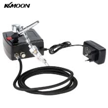 -KKmoon 100-250V Professional Gravity Feed Dual Action Airbrush Air Compressor Kit for Art Painting Tattoo Manicure Craft Cake Spra on JD