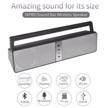 -2.0 Channel Bluetooth Sound Bar 10-Watts Wireless Speaker with Loud Stereo Sound on JD