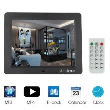 875072536-Remote Control Frame 10  Desktop Slim LCD Digital Photo Frame with MP3 MP4 E book Calendar Clock Z8HN on JD
