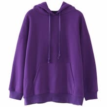 fashion-hoodies-sweat-shirts-sweatshirt female jacket hoodies cotton blend solid long sleeve autumn fall winter outwear woman top femme on JD