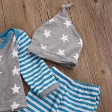 sweaters-US Newborn Baby Boy Girls Tops T-shirt Pants Leggings Hat Striped Outfit Clothes on JD