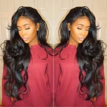 -Berimy 8A Grade Lace Front Human Hair Wigs Body Wave Natural Color #1B Glueless Lace Front Wigs Pre Plucked Hair LIne Lace Wigs Fo on JD