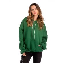 fashion-hoodies-sweat-shirts-Winter new bat hooded pullover pocket plus velvet padded sweater women on JD