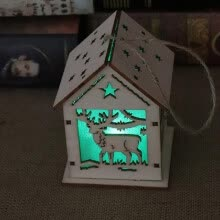 8750202-Christmas Decorations Lighting LED House Light Snow Hotel Housing Bar Christmas Tree Decorations Pendant DIY Gift Window Display G on JD