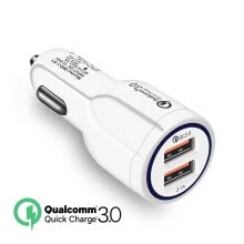 -Mzxtby Qc 3.0 Fast Charging Adapter Mini Dual Usb Car Charger for iPhone Samsung Huawei Xiaomi Redmi Tablet Car USB Quick Charger on JD