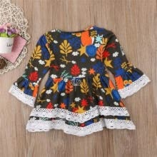 wedding-parties-Toddler Baby Girl Princess Dress Floral Print Casual Party Tutu Sundress Clothes on JD