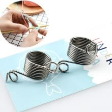 knitting-crochet-2pcs Ring Type  Finger Wear knitting Needle Thimble Yarn Spring Guides Braided Knuckle Sewing Tools knitting accessories on JD