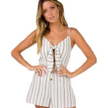 67489d70c087 Summer new bow knot multicolored striped suspender pants · jumpsuits- playsuits-bodysuits-Mosquito ...