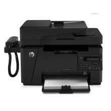 printers-HP LaserJet Pro MFP M128fn Black and White Laser All-in-One Printer Print Copy Scan Fax on JD