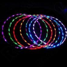 led-light-up-toys-90cm LED Glow Hula Hoop Multicolor Hoop Toys Loose Weight Toy Kids Child Gifts on JD