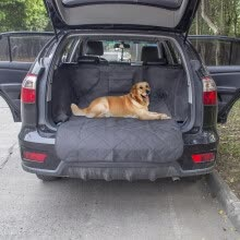 -Anself Non-slip Waterproof Dog Cargo Liner Safety Hammock Pet Car Back Seat Cover Protector Mat for Trunk SUV Pet Supply on JD