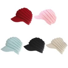 accessories-Women's Knit Baseball Cap Open Ponytail Hat Men's and Women's Cap Ski Sports Cap on JD
