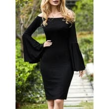-Sexy Women Plus Size Off Shoulder Long Sleeve Party Evening Cocktail Mini Dress on JD