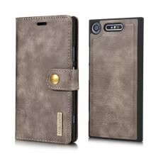 -DG.MING Cover for Sony Xperia Compact /Z3 Gentle Business Style Case Flip Wallet ZX1/2 XZ2 Compact on JD