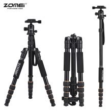 tripods-mounts-ZOMEI Q666 59inch Compact Travel Portable Aluminum Alloy Camera Tripod Monopod with Ball Head/ Quick Release Plate/ Carry Bag for on JD