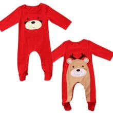 boy-sportswear-AU Newborn Baby Boy Girls Christmas Deer Romper Jumpsuit Bodysuit Outfit Clothes on JD