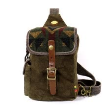 waist-packs-TSD national wind Indian striped breast packs leisure bag slant bag male chest bag retro craft single shoulder small bag on JD