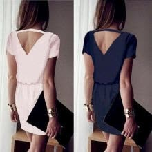 -Women Lady Casual Chiffon Slim Dress Skirt Party Evening Cocktail Formal Dresses on JD