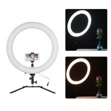 -18inch LED Ring Light 5600K 60W Dimmable Camera Photo Video Lighting Kit with Tabletop Stand/ Phone Clamp/ Ball Head for iPhone X on JD