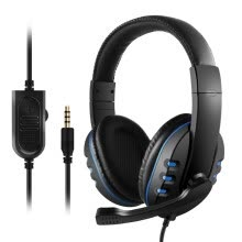 -3.5mm Wired Gaming Headphones Over Ear Game Headset Noise Canceling Earphone with Microphone Volume Control for PC Laptop PS4 Smar on JD