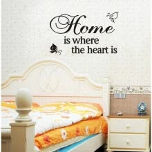 -Home Heart Quote Lettering words Vinyl Wall Decals Sticker Room Decor UKLXL on JD