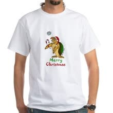 -CafePress - Sea Turtle Christmas White T-Shirt - 100% Cotton T-Shirt, White on JD