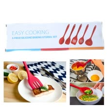 cookware-5pcs/lot Silicone Kitchenware Non-stick Cooking Cookware Set Kit Baking Utensil on JD