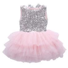 -Fancy Kids Baby Girl Sequins Dress Christmas Party Dresses Bridesmaid Dress Gown on JD