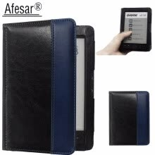 -Afesar For Digma e61M eReader 6 inch leather book Cover Case magnetic clasp flip good fit R61M ebook pouch funda on JD
