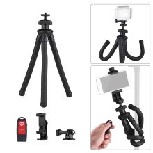 tripods-mounts-Universal Flexible Octopus Tripod Handy Tripod Stand Set 360 Degree Rotation Holder with Camera Connector Phone Remote Control for on JD