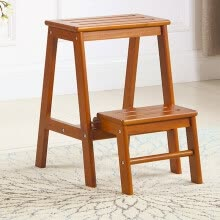-Schotts (SHTS) stool solid wood stair stool home wood ladder kitchen high and low stool ST-2 white on JD