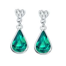 -Yoursfs® Water Drop Long Earrings for Women Platinum Plated Imitation Emerald Stone Drop Earings Fashion Jewelry pendientes mujer on JD