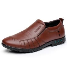 -Seasons set foot men's casual wear leather shoes on JD