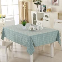 -[Jingdong supermarket] green reed cotton linen tablecloth coffee table cloth large square pink 130 * 180cm on JD
