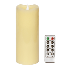 candles-holders-Flameless Candles With Romote Control and Timer ,Simplux Free-Flowing 3D Fireless flame,Real Wax ,Battery-Operated,Ivory,3x7 Inche on JD