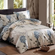 -[Jingdong supermarket] Jiuzhou deer home twill printing double cotton quilt fleeting 200x230cm bed cover single on JD