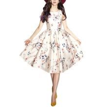 parties-formal-events-Buenos Ninos Women's Sleeveless Flower Printed Vintage Cocatail Flare Dresses on JD