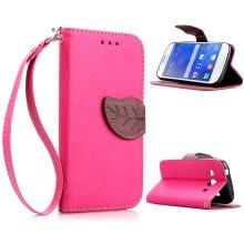 -Pink Design PU Leather Flip Cover Wallet Card Holder Case for Samsung Galaxy Ace Style LTE/G357FZ on JD