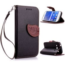 -Black Design PU Leather Flip Cover Wallet Card Holder Case for Samsung Galaxy Ace Style LTE/G357FZ on JD