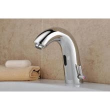 -Hands Free Automatic Sensor Faucet Cold and Hot Single Handle Bathroom Electrical Basin Robinet on JD