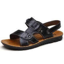 men-sandals-flip-flops-Men's summer sandals casual sandals and slippers men beach sandals lazy breathable shoes on JD