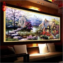 8750202-YGS-32 DIY 5D Diamond Mosaic Landscapes Garden lodge Full Diamond Painting Cross Stitch Kits Diamonds Embroidery Home Decoration on JD