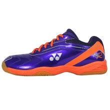 -Yonex YONEX badminton shoes YY men and women shoes professional wear-resistant non-slip SHB-200CR purple / yellow 45 yards on JD