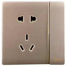 87502-Midea (Midea) switch socket two three socket with a switch open control five holes elegant gold 86 no border on JD