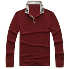 875061884-Casual Shirt Polo Winter Long Sleeve Men Shirts 100 Cotton Polo Clothings For Men on JD