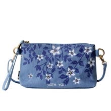 clutches-and-purses-Flower princess withyou embroidery printing art Messenger bag single shoulder canvas bag 1606SX007 blue on JD
